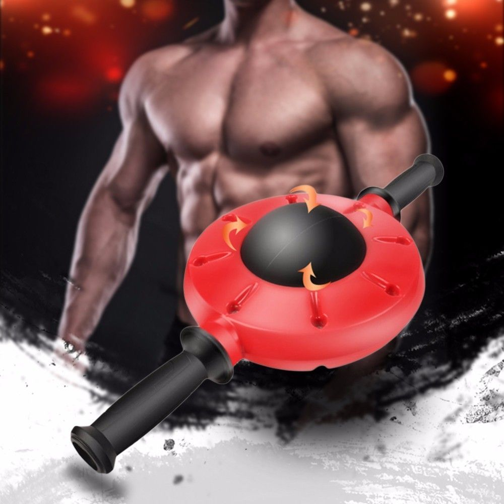 Gym Abdominal Exercise Machine Ab Roller Fitness Exercise Abdominal Trainer Training Wheel Gear Muscle Building Wheel