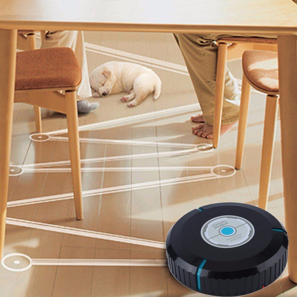 Home Auto Cleaner Robot Microfiber Smart Robotic Mop Dust Cleaner Cleaning-black In Stock Drop Shipping Hot New