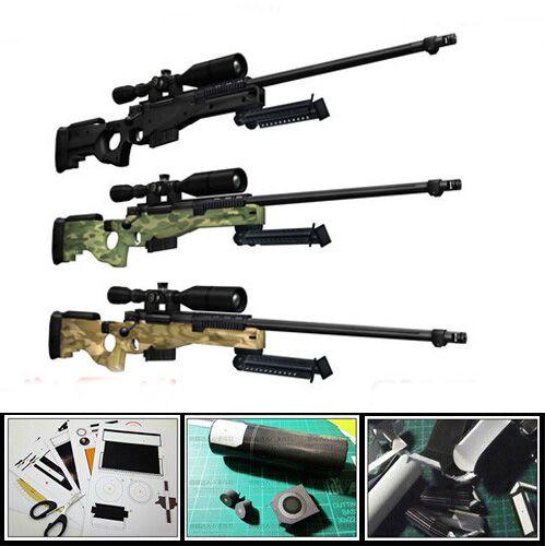 Modèle de pistolet en papier moderne AWP Sniper fusil 1:1 Proportion 3D puzzle bricolage jouet éducatif