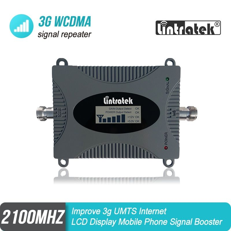 Lintratek 3G WCDMA UMTS 2100mhz Cellular Signal Repeater 65dB Gain Band 1 Booster Improve 3G Internet MINI Size Amplifier #4