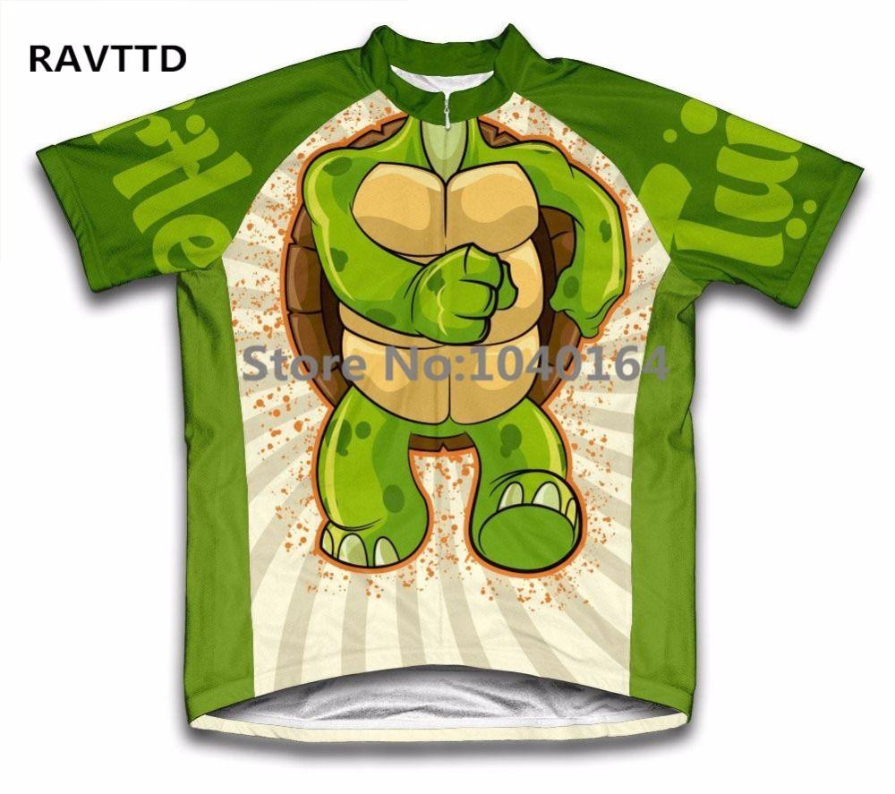 Tortue enfants garçon bande dessinée cyclisme maillot manches courtes vtt maillot Ropa Ciclismo vélo vélo vêtements haut
