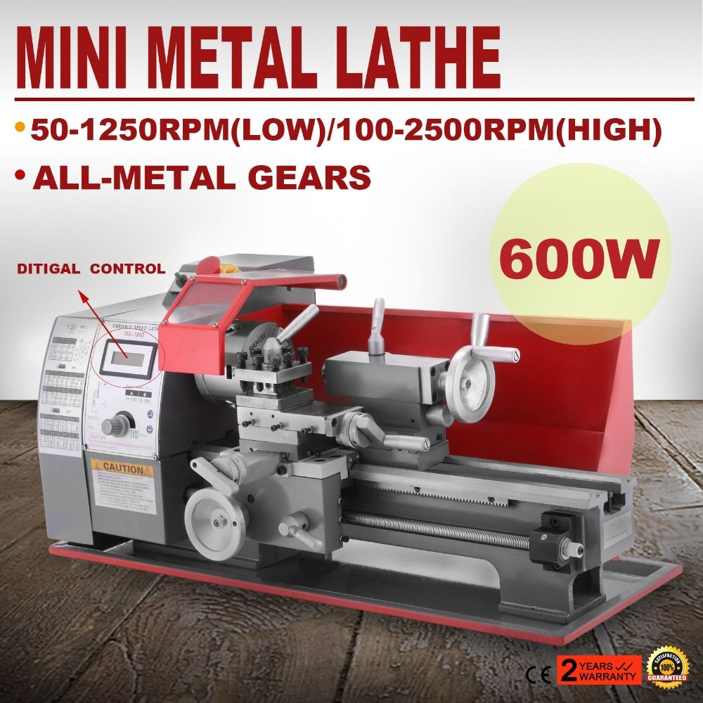 220 v/50 hz Präzision Mini Drehmaschine 2500 rpm 600 watt Mini Metall Drehmaschine Variable Geschwindigkeit Fräsen Tisch Holz drehmaschine Metall Drehmaschine 7x12 Zoll
