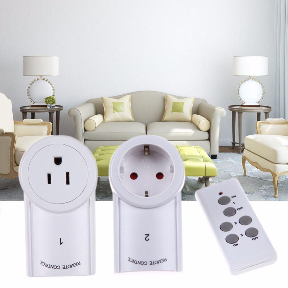 ALLOYSEED 3pcs/lot EU/US Socket Wireless <font><b>Remote</b></font> Control Power Outlet Light Switch Plug Smart Home <font><b>Remote</b></font> Switcher Outlet Socket