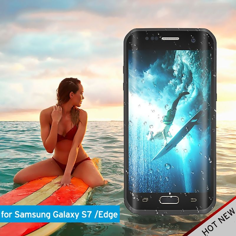 S7edge s7 redrepper Waterproof Case for Samsung Galaxy S7 Edge Ultra Slim Cover for S7 Water/Dirt/Diving Underwater PC TPU Armor