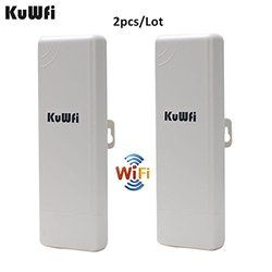 2 Pcs Wifi Repeater Outdoor CPE WIFI Router Wifi Extender 1000 MW 2Km, 150 Mbps Access Point Ap router WDS Wifi Bridge