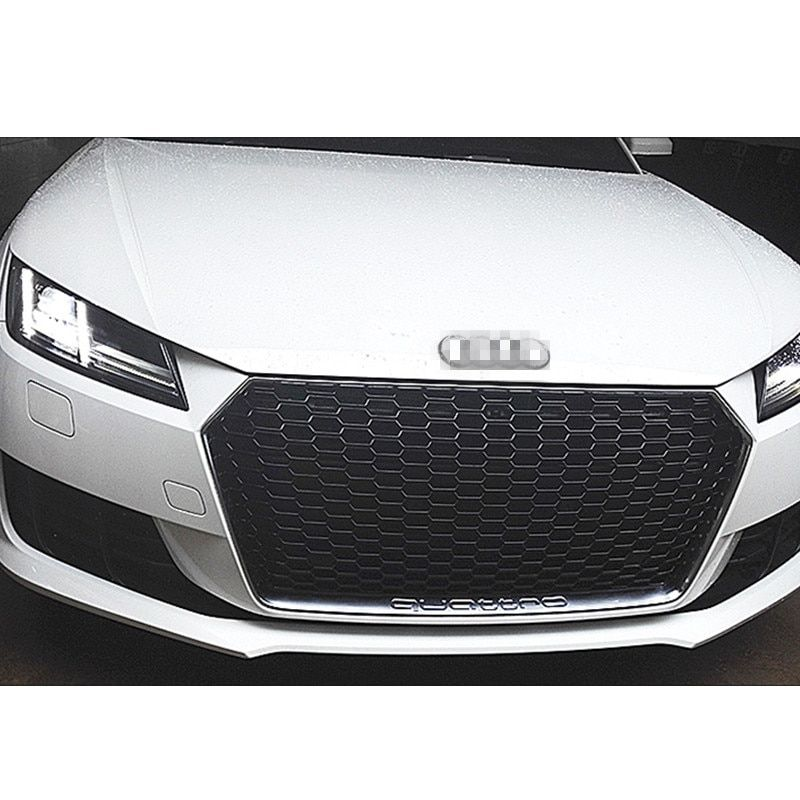 TTRS ABS Silver Frame Quattro Style Car Front Bumper mesh Grill for Audi TT MK3 Typ 8S 2016