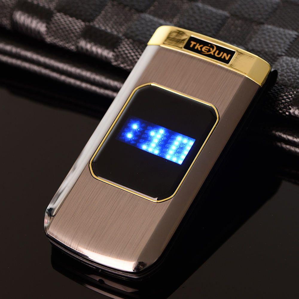 Luxury Original TKEXUN M3 Metal Phone Flip Mobile Phone Standby Vibration Phone  Russian French Language TKEXUN M3
