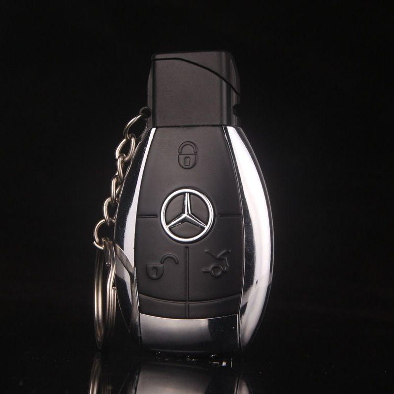 Design de mode créative modèle de voiture coupe - vent gaz flamme du briquet porte-clés briquet hommes cigarette briquet boucle clé cadeau plus léger