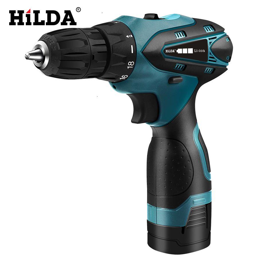 HILDA perceuse électrique visseuse sans fil batterie Lithium Mini perceuse visseuse sans fil outils électriques perceuse sans fil