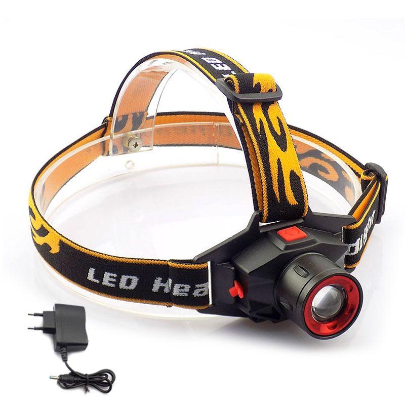 Rechargeable Q5 Led phare de Phare zoom mise au point Haute Luminosité Tête Lampe Torche Frontale lampe de Poche Lanterne de Camping Randonnée Pêche