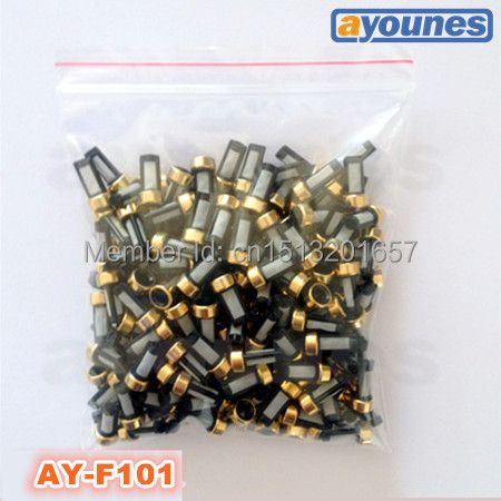 200pieces/set 12*6*3mm top feed auto parts  universal micro basket  fuel injector filter  for bosch injectors(ASNU03C,AY-F101)