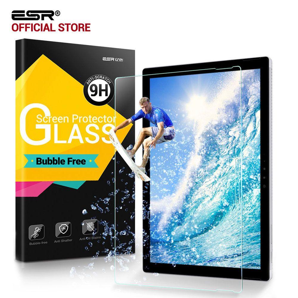 Displayschutzfolie für Oberflächen Pro 5/Pro 4, ESR Ultra Clear HD Gehärtetem Glas Film Blasenfreie für Microsoft Surface Pro 2017/Pro4