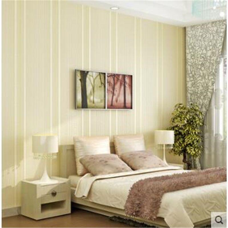 beibehang  Simple striped wallpaper Living room 3d TV background Wallpaper Nonwovens Wallpaper Bedroom Modern plain  behang