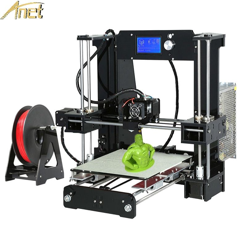 Anet A8 A6 Auto Leveling A6/A8 Acrylic frame Industrial Grade High Precision Reprap prusa i3 3d printer DIY Kit With Filaments