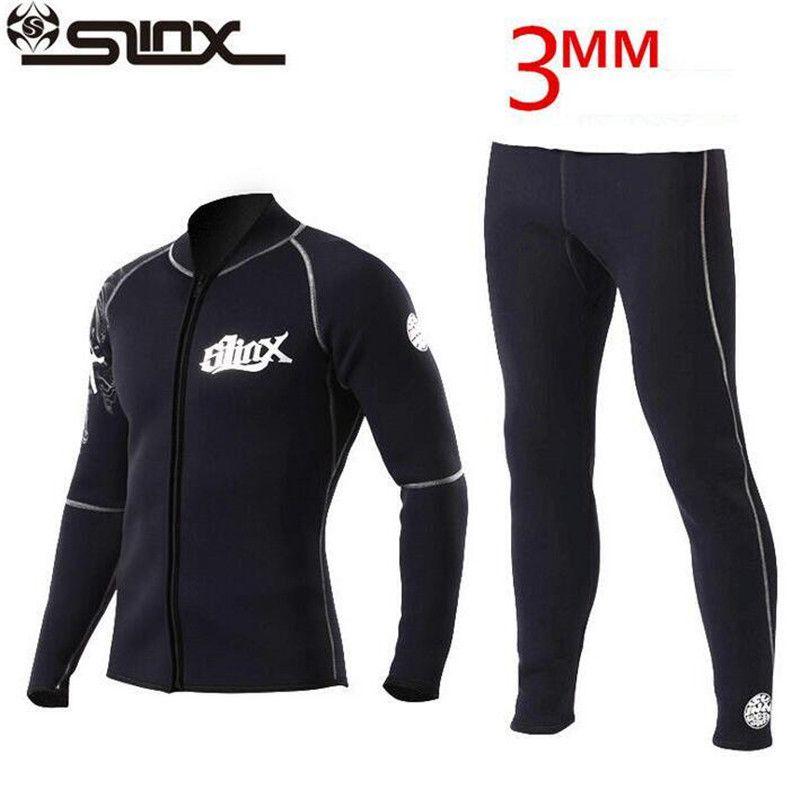 SLINX 3mm Neoprene Winter Wetsuit Jacket Men Rash Guard Scuba Diving SwimwearKite Surfing Snorkeling Swimsuit Tops & T-Shirt