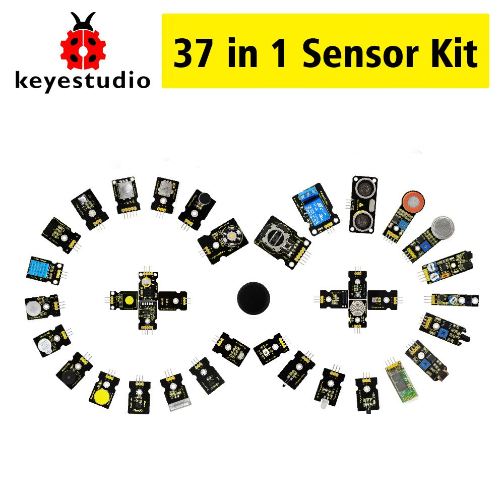 New Packing!Keyestudio37 in 1 sensor kit(37pcs sensors)for Arduino starter kit+37Projects+PDF+Video(Works with Official Arduino