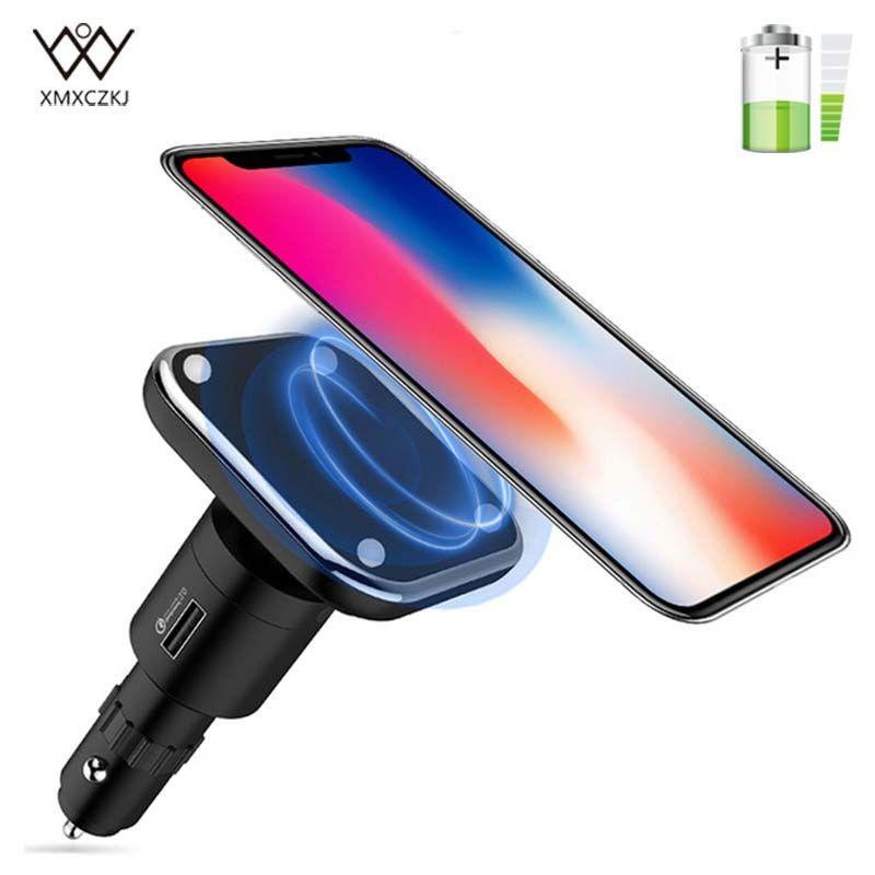Qi Drahtlose Ladegerät Magnetische Auto Montieren Magnet Wireless USB Ladegerät Zigarette Telefon Halter Charing Dock Für iPhone X Samsung S8