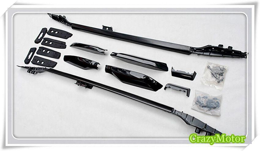 Black Top Roof Rack Rails Luggage Carrier Bars For Toyota Land Cruisr Prado FJ150 2010 2011 2012 2013 2014 2015 2016 2017