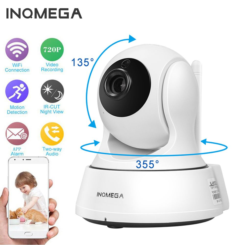 INQMEGA <font><b>720P</b></font> IP Camera Wireless Wifi Cam Indoor Home Security Surveillance CCTV Network Camera Night Vision P2P Remote View