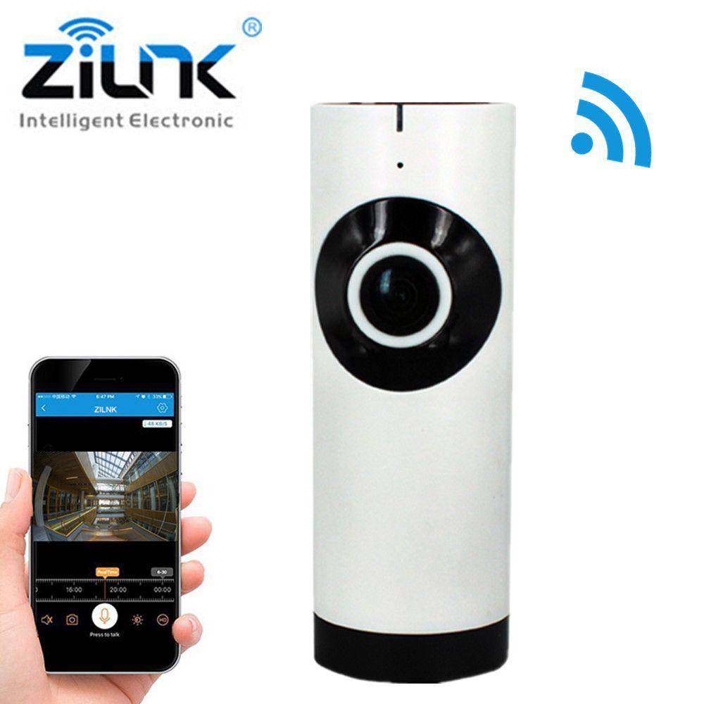 ZILNK IP Camera 180 Degree Panoramic Fisheye Lens HD 720P Wi-Fi Two Way Audio Baby Monitor Indoor Home Security CCTV IP Cam