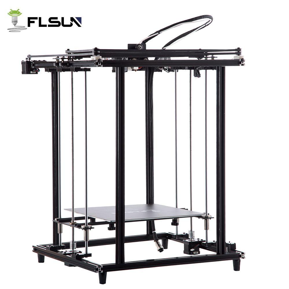 Flsun 2018 Neue 3D Drucker Volle Metall Struktur Große Größe 320*320*460mm 3D Printe Erhitzt Bett pre-montage