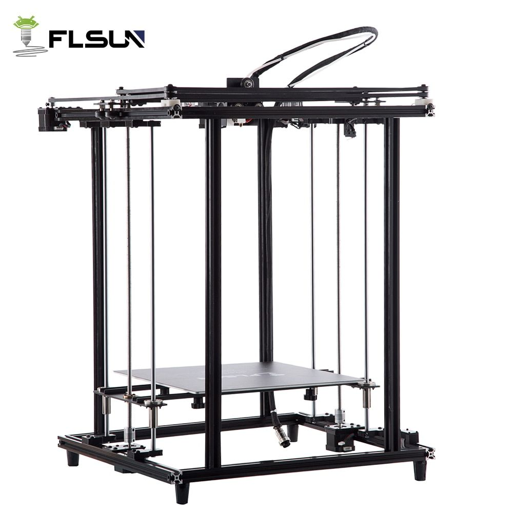 Flsun 2018 New 3D Printer Full Metal Structure Large Size 320*320*460mm 3D Printe Heated Bed Pre-assembly