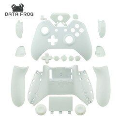 For Microsoft Xbox One Cases Custom Matte White Replacement Housing Shell With Buttons For Wireless Controllers Gaming Gamepad
