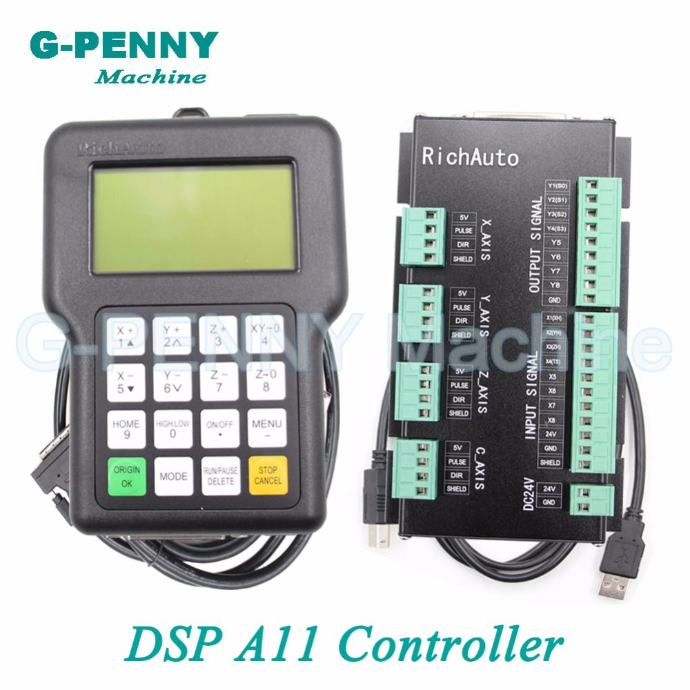 Free shipping ! DSP 3 axis Richauto A11 controller CNC wireless channel for CNC router engraver handle motion English version