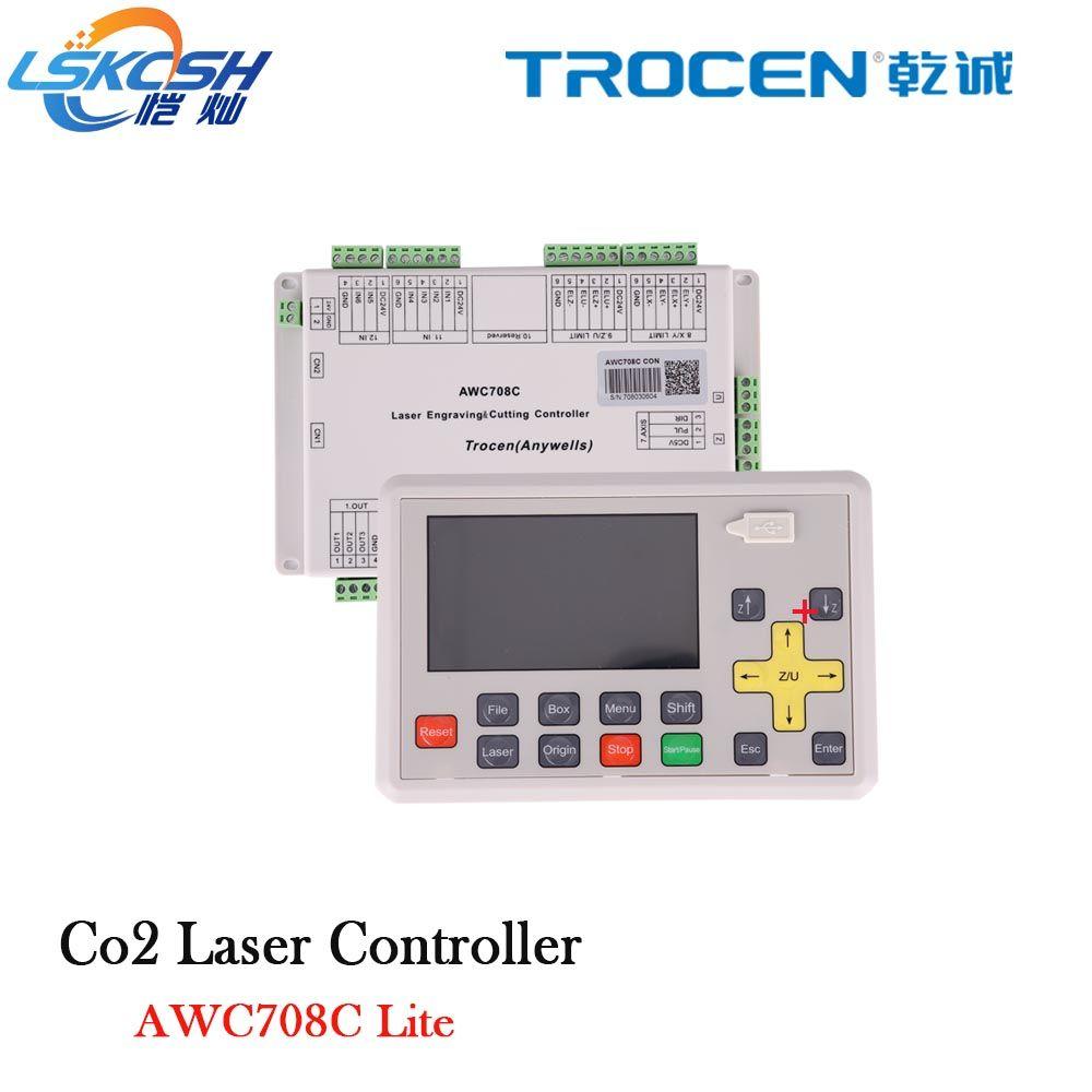 Trocen Anywells AWC708C LITE Co2 Laser Controller System Board Karte Für Laser Schneiden Maschine Gravur Maschine Cutter Stecher