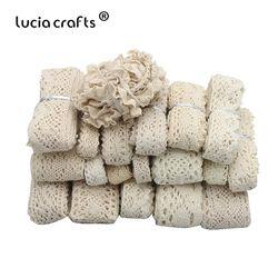 Lucia crafts 2 лет/6 лет слоновая кость отделка хлопок Вязаные кружевные ленты для пошива швейных изделий Материал DIY аксессуары ручной работы N0105