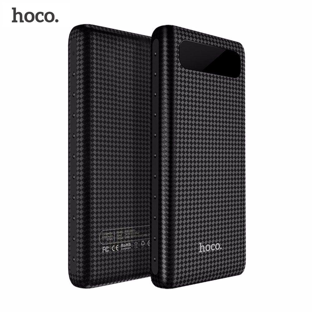 HOCO 20000mAh Dual USB Power Bank <font><b>18650</b></font> Portable External Battery Universal Mobile Phone Charger PowerBank 10000mAh For Phones