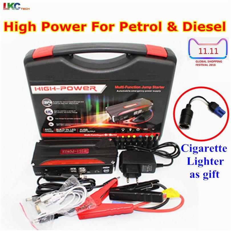 Best Car Emergency Battery 12V Car Jump Starter Booster Portable Power Bank 600A Peak Current Multi-function Car Jump Starter