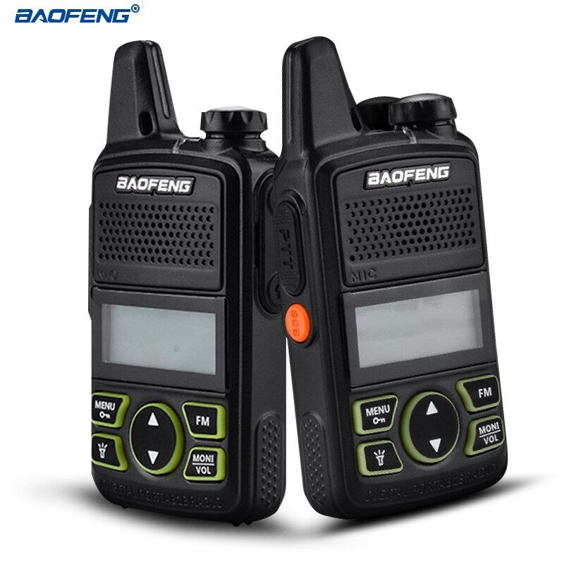 BAOFENG BF-T1 Walkie Talkie MINI Two Way Radio UHF 400-470mhz 20CH Portable Ham CB Radio FM Flashlight Handheld Transceiver