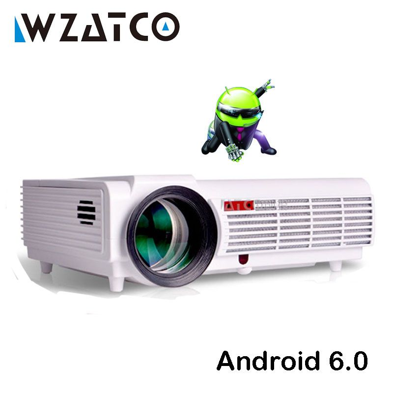 WZATCO LEDBT96 LED Projector 5500lumen Android WIFI Smart Full HD 1080P for Home Theater Multimedia Video 3D Proyector Beamer