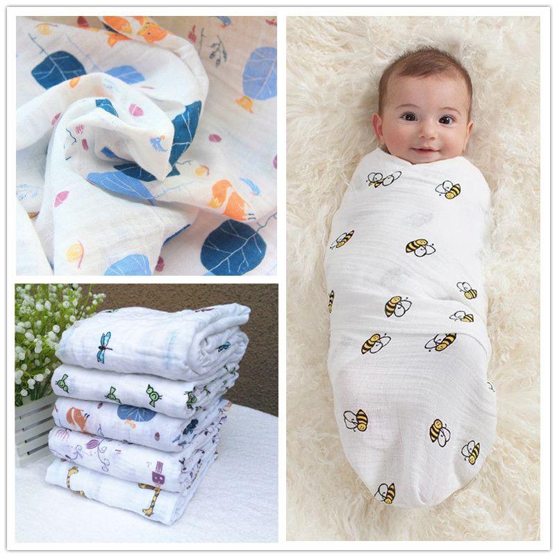 Bebé Muselina de Algodón Suave Bebé Recién Nacido Toalla de Baño Mantas Pañales Diseños Múltiples Funciones Wrap camas swaddle Aden Anais
