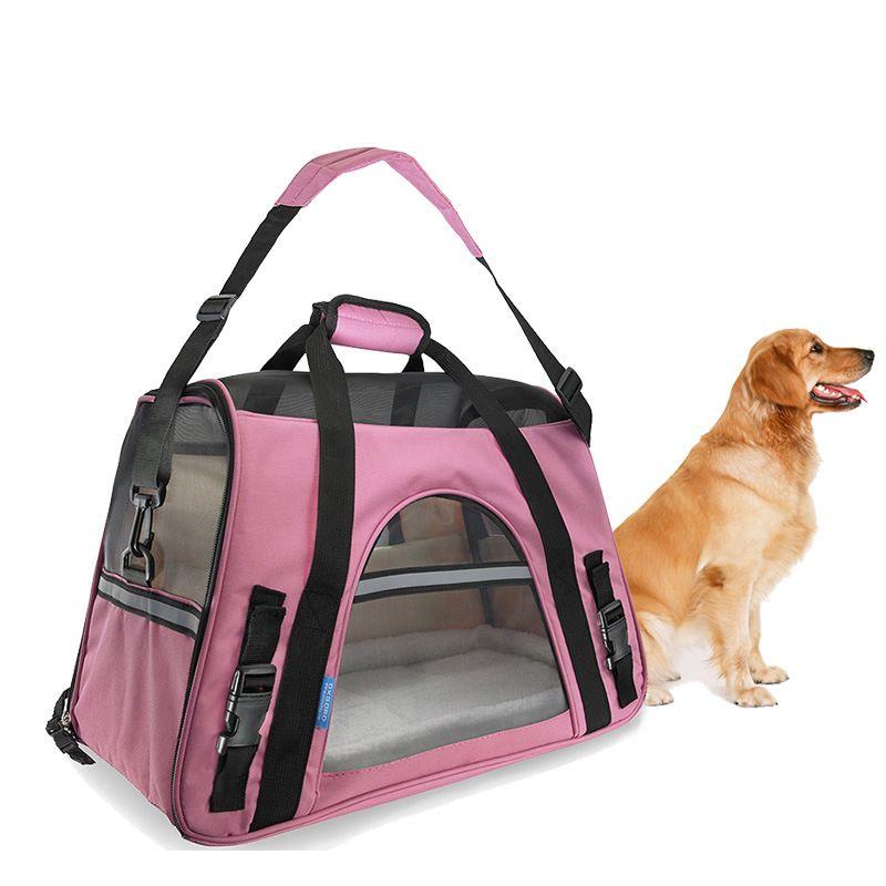 Портативный собака сумка Pet Carrier Оксфорд и Обувь с дышащей сеткой Pet Cat собак Путешествия Перевозчик Сумка зоотоваров открытый