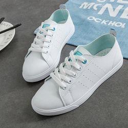 WAWFROK/женская повседневная обувь; сезон лето-весна 2018 года; женская обувь на плоской подошве; Модные дышащие женские кроссовки со шнуровкой