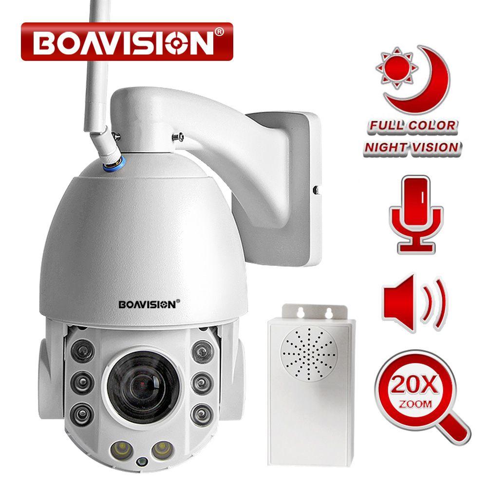 20X Zoom 1080P Wifi PTZ IP Kamera Outdoor 2 Weg Audio Wasserdichte IP66 Volle Farbe Nachtsicht Sicherheit CCTV kamera Android IOS