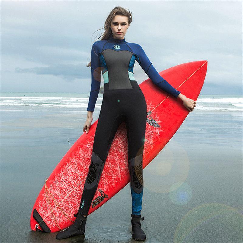 Frauen 1,5mm Neopren Tauchen Anzüge Bodys Neoprenanzüge Schnorchelausrüstung Einteiliges Surfen Rash Guards