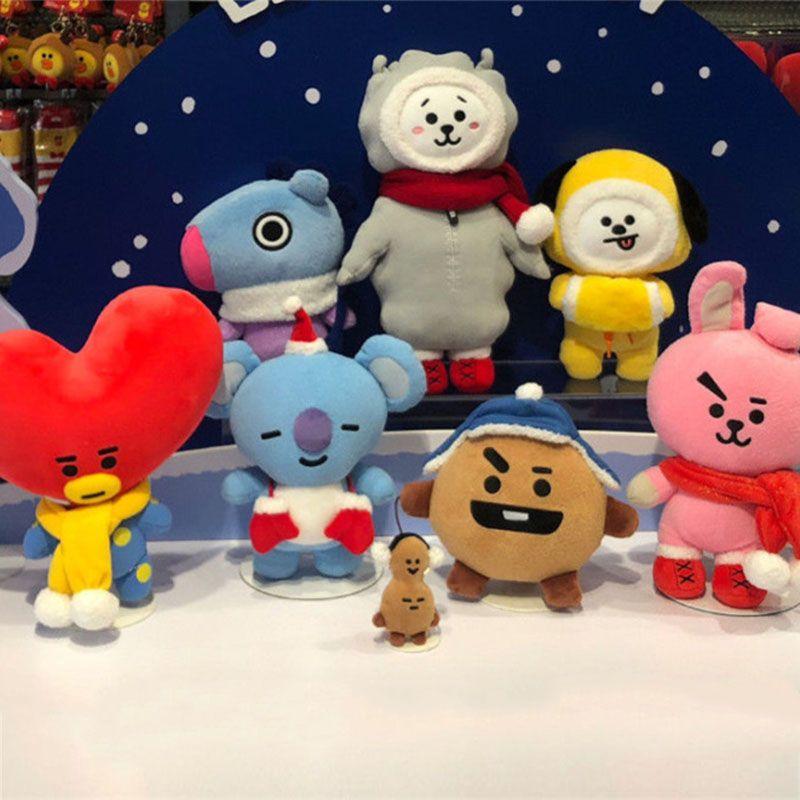 XINTOCH BTS Jouets CHIMMY COOKY TATA De Noël En Peluche poupées en peluche En Peluche Kpop poupée souple Nouvelle Arrivée Cadeau pour Enfants livraison directe