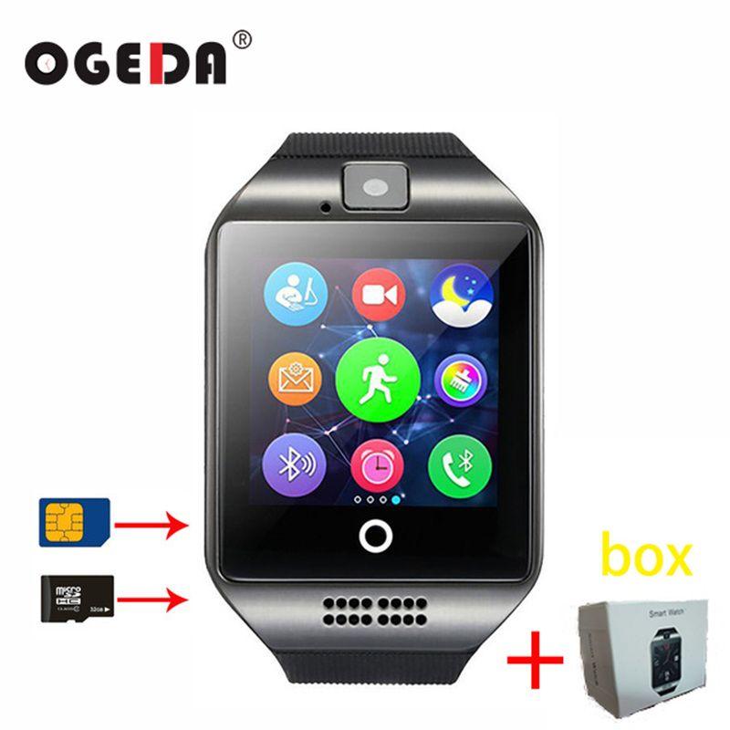 Montre intelligente Q18 SIM SD carte téléphone caméra MTK6261 Bluetooth écran tactile Smartwatch pour iOS Android porter montre pour hommes horloge