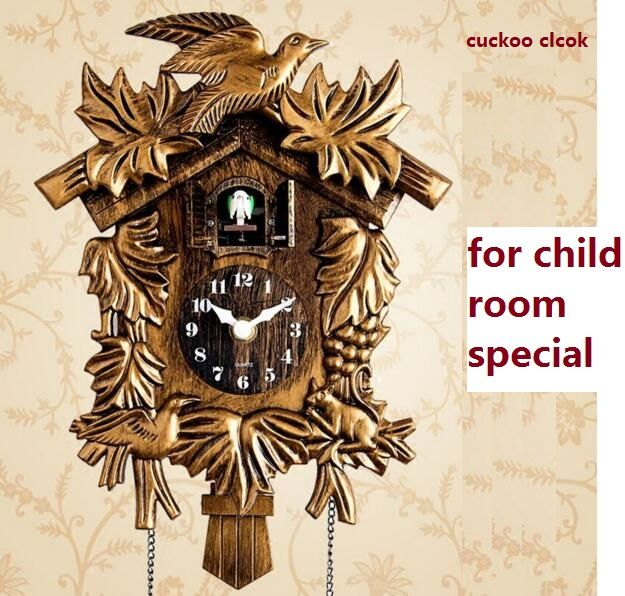 Cuckoo Clock Living Room <font><b>Wall</b></font> Clock Bird Alarm Clock Watch Modern Brief Children Unicorn Decorations Home Day Time Alarm Only