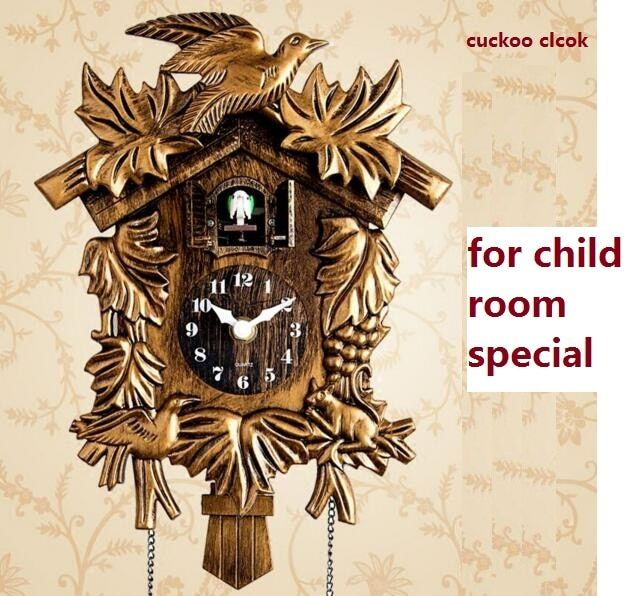 Cuckoo Clock Living Room Wall Clock Bird Alarm Clock Watch Modern Brief Children Unicorn Decorations Home Day Time Alarm Only