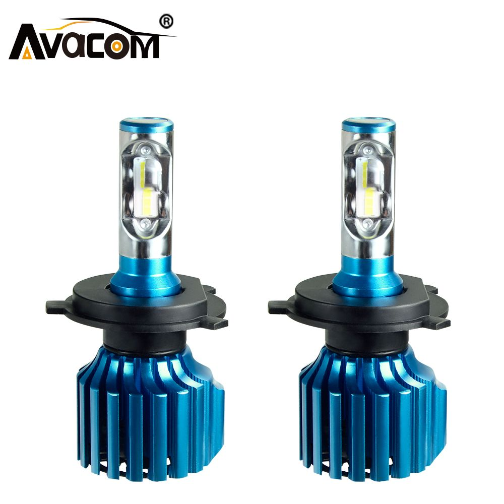 Avacom H4 H7 LED Car Bulb CSP H1 H11 H15 9005 9006 9012 Hi-Lo Beam 12V 72W 12000LM 6500K Automobiles Lamp Car-styling Fog Light