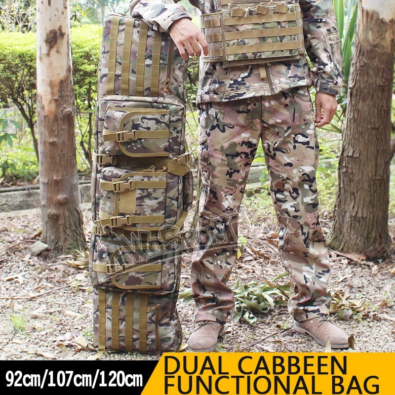 Tactical Outdoor Hunting Fishing Bags Double Carbine Case Dual Two Rifles Large 36
