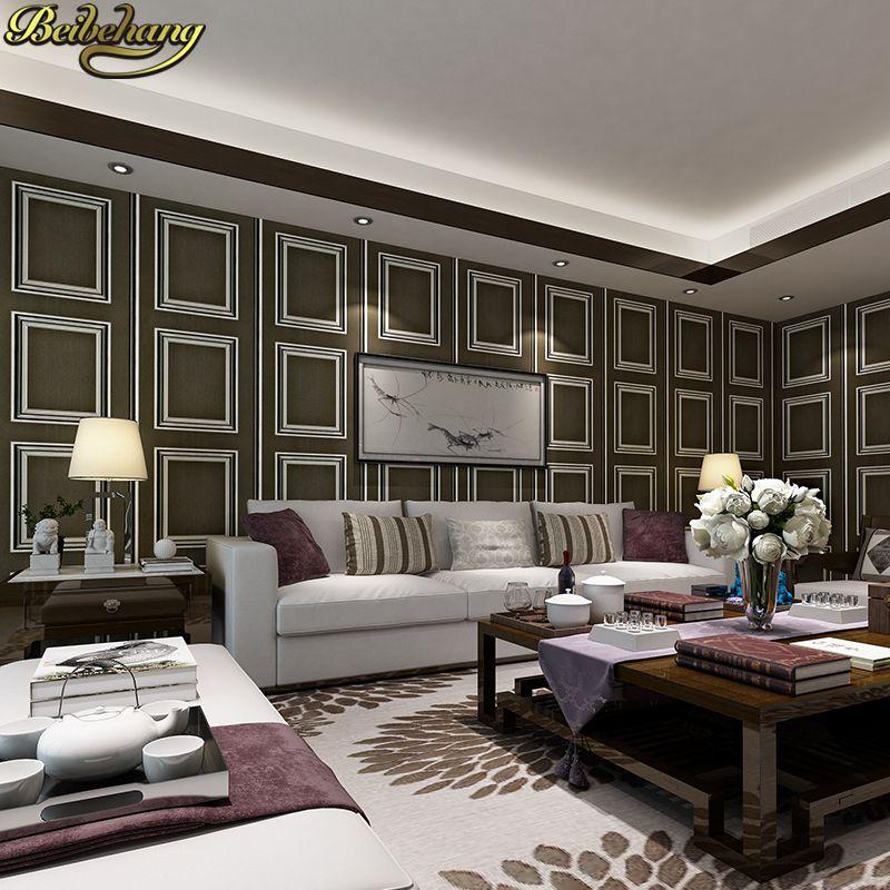 Beibehang wand papier Pune großen quadratischen rahmen modernen minimalistischen importierten grünen vliestapete wohnzimmer hintergrund schlafzimmer