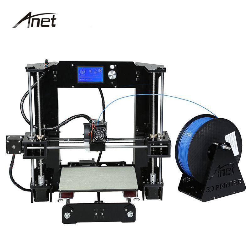 Facile Assembler Anet A6 A8 Impresora 3D Imprimante Kit de Mise À Niveau Automatique grande Taille Reprap i3 DIY Imprimantes Avec Foyer Filament SD Carte