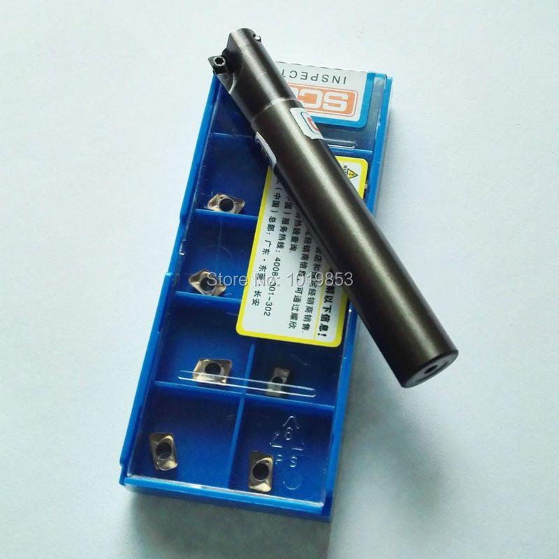 SCGO AD238-0708*C10*100L Small diameter milling cutter arbor 8mm cutter diameter for ADMT070208R carbide inserts