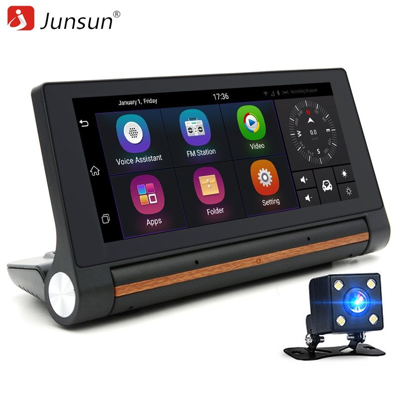 Junsun 3G Car DVR GPS Camera 6.86Android dash cam <font><b>Full</b></font> HD 1080p Video recorder Wifi Bluetooth registrator Dual lens dvrs Camera