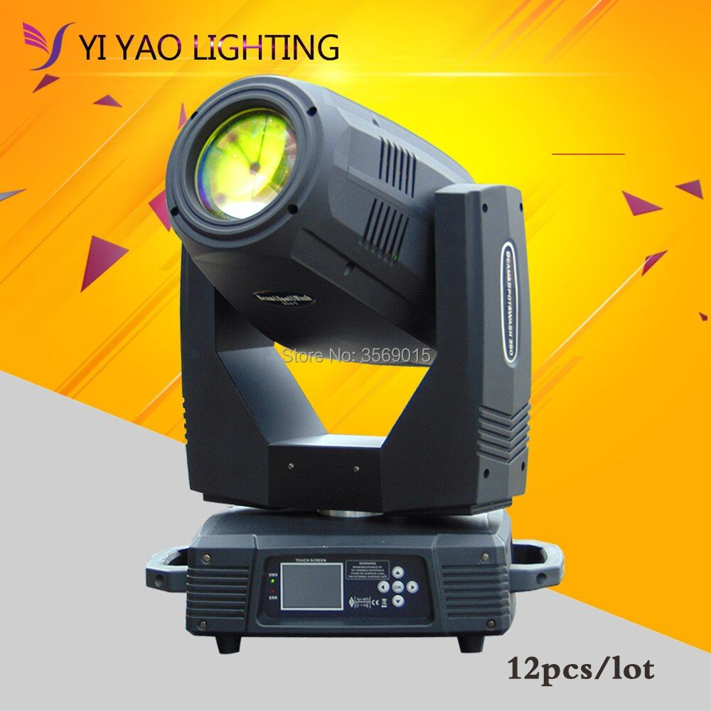 12pcs/lot Stage High quality 350W Lamp beam stage Light DMX512 Touch screen Moving Head Light Beam club dj